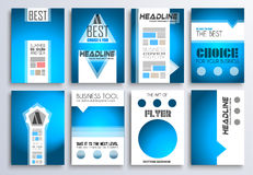 Set of Brochure, Flyers and layout templates for you projects Royalty Free Stock Photos