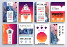 Set of Brochure, Flyers and layout templates for you projects Stock Images