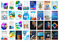 Set of Brochure, Flyers and layout templates for you projects Royalty Free Stock Image