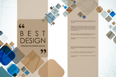 Set of brochure, poster design templates in abstract background style Stock Photos