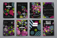 Set of brochure, poster design templates in abstract background style Royalty Free Stock Photos