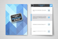 Set of brochure, poster design templates  Royalty Free Stock Photography