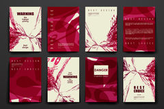 Set of brochure, poster design templates in stock illustration
