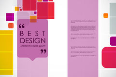 Set of brochure, poster design templates in abstract style Royalty Free Stock Images