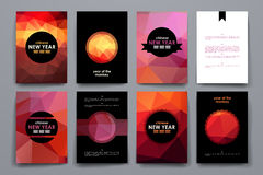 Set of brochure, poster design templates in Chinese New Year style royalty free illustration