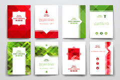 Set of brochure, poster design templates  Royalty Free Stock Photos