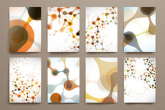 Set of brochure, poster design templates in DNA Stock Images