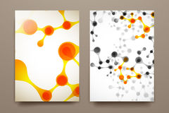 Set of brochure, poster design templates in DNA molecule style Stock Photo