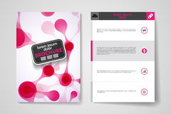 Set of brochure, poster design templates in DNA molecule style Royalty Free Stock Image