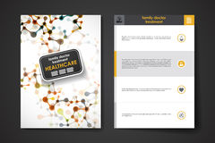 Set of brochure, poster design templates in healthcare style Royalty Free Stock Photography