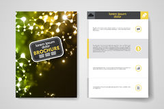 Set of brochure, poster design templates in neon Stock Image