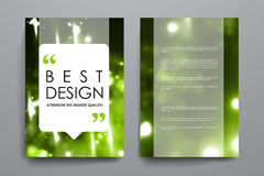 Set of brochure, poster design templates in neon Royalty Free Stock Image