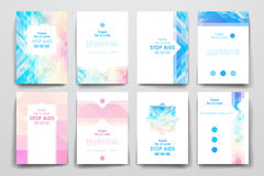 Set of brochure, poster design templates in World Royalty Free Stock Images