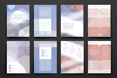 Set of brochure, poster design templates in World Stock Photo