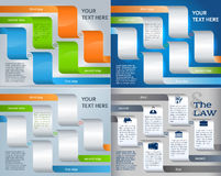 Set brochure template page number of steps presentations07. Set Design business presentation template. Vector illustration for technology infographics, number Stock Images
