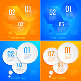 Set brochure template page number of steps presentations01 Stock Photography