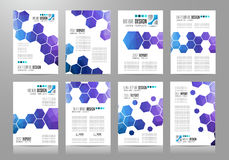 Set of Brochure templates, Flyer Designs or Covers. For business presentation and magazine covers, annual reports and marketing generic purposes Royalty Free Stock Photography
