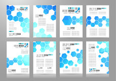 Set of Brochure templates, Flyer Designs or Depliant Covers for business Stock Photo