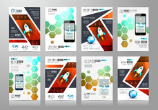 Set of Brochure templates, Flyer Designs or Depliant Covers for business Royalty Free Stock Photo