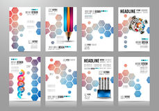 Set of Brochure templates, Flyer Designs or Depliant Covers for business Royalty Free Stock Photography
