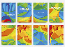 Set of brochures in colors Brazil 2016. Set of brochures in colors of Brazil 2016. Three color concept. Can be used in cover design, book design, website Vector Illustration