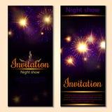 A set of 2 brochures of festive design. Invitation card. A set of 2 brochures of festive design Stock Photo