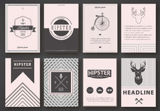 Set of brochures in hipster style Royalty Free Stock Photography