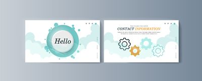 Set of brochures for marketing promotion and the delivery goods. Vector illustration stock illustration