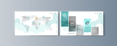 Set of brochures for marketing promotion and the delivery goods. Vector illustration royalty free illustration