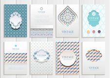 Set Of Brochures3 Stock Photography