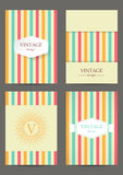 Set of brochures in vintage style. Retro Patterns for Placards, Posters, Flyers and Banner Designs Stock Images