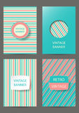 Set of brochures in vintage style. Retro Patterns for Placards, Posters, Flyers and Banner Designs Royalty Free Stock Images