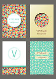 Set of brochures. Vintage style.  Retro Patterns for Placards, Posters, Flyers and Banner Designs Stock Photos