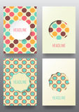 Set of brochures. Vintage style.  Retro Patterns for Placards, Posters, Flyers and Banner Designs Royalty Free Stock Photo