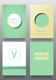 Set of brochures. Vintage style.  Retro Patterns for Placards, Posters, Flyers and Banner Designs Stock Photo