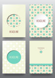 Set of brochures. Vintage style.  Retro Patterns for Placards, Posters, Flyers and Banner Designs Stock Image