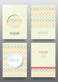 Set of brochures. Vintage style.  Retro Patterns for Placards, Posters, Flyers and Banner Designs Stock Images