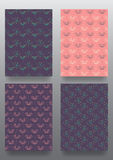 Set of brochures. Vintage style.  Retro Patterns for Placards, Posters, Flyers and Banner Designs. Flower pattern Royalty Free Stock Photos