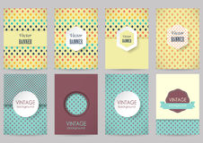 Set of brochures in vintage style Royalty Free Stock Image