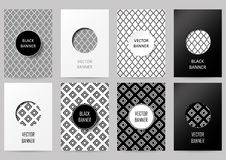 Set of brochures in vintage style Royalty Free Stock Photography