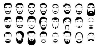 Set brody i wąsy Zdjęcie Royalty Free
