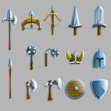 Set broni ikony również zwrócić corel ilustracji wektora Fotografia Royalty Free