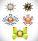 Set with brooches. Stock Photo