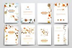 Set broszurka, plakatowi projektów szablony w DNA Obraz Stock