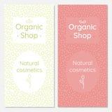 Set broszurki dla organicznie kosmetyka sklepu Fotografia Stock