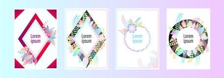 Set broszurki, sprawozdania rocznego pokrywy projekta szablony na temat i, royalty ilustracja