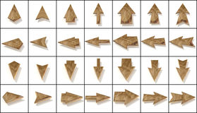Set brown arrows Stock Photography