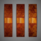 Set of brown banners Royalty Free Stock Images
