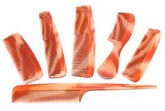 Set of brown combs Royalty Free Stock Photos