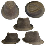 Set of brown hats Royalty Free Stock Photography